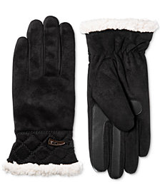 Isotoner Women's smartDRI® Microsuede Touchscreen Gloves, Created for Macy's