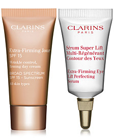 Free Skincare Solution 2 pc gift with any Clarins serum purchase