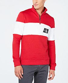 Calvin Klein Jeans Men's Long-Sleeve Half-Zip Sweater