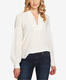 CeCe Long-Sleeve V-Neck Blouse