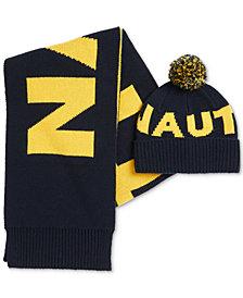 Nautica Men's Logo Scarf & Hat