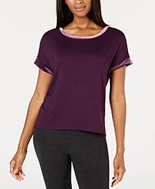 Alfani Velvet-Trim Pajama Top, Created for Macy's