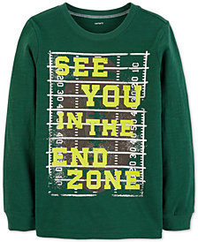 Carter's Little & Big Boys End Zone-Print Cotton T-Shirt