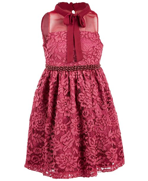 87b003b6b Bonnie Jean Toddler Girls Illusion Neck Lace Dress & Reviews ...
