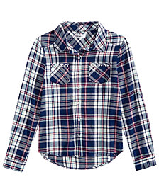 Epic Threads Big Girls Plaid Button-Front Shirt, Created for Macy's