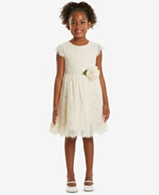 Rare Editions Sequin Lace Dress, Little Girls