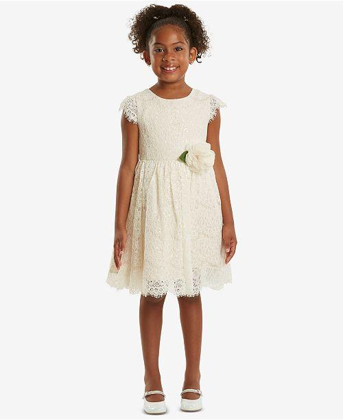 Rare Editions Sequin Lace Dress Little