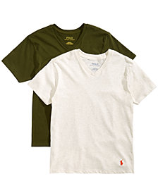 Polo Ralph Lauren Big Boys 2-Pk. Cotton V-Neck T-Shirts