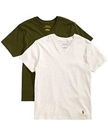 Polo Ralph Lauren Big Boys 2-Pk. Cotton V-Neck T-Shirts