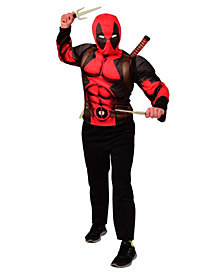 Deadpool Costume Top & Weapon Boys Backpack Kit Accessory