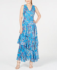 I.N.C. Asymmetrical Ruffle Maxi Dress, Created for Macy's