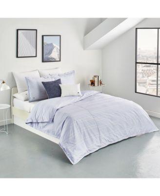 Sideline Cotton 3-Pc. Dobby Stripe Full/Queen Duvet Cover Set, Created for Macy's