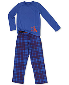 Calvin Klein Big Boys 2-Pc. Terry Pajama Set