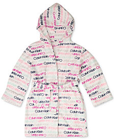 Calvin Klein Big Girls Printed Hooded Wrap Robe