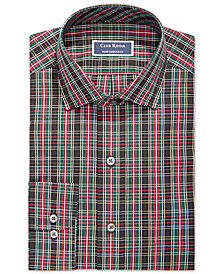 Club Room Men's Classic/Regular Fit Stretch Carnegie Tartan Dress Shirt, Created for Macy's