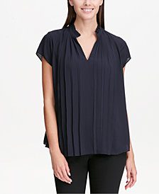 Calvin Klein Pleat-Front Top