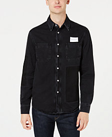 Calvin Klein Jeans Men's Patch Utility Shirt