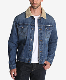 Wrangler Men's Fleece Lined Denim Trucker Jacket