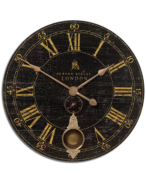 "Uttermost Bond Street Wall Clock, 30"""