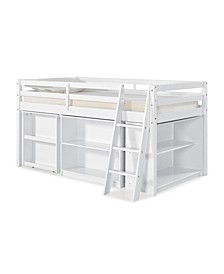 Roxy Junior Loft Bed with Storage Drawers, Bookshelf and Desk
