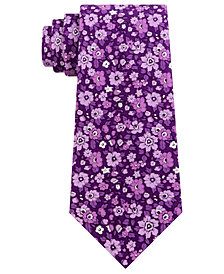 Tommy Hilfiger Men's Large Floral Conversational Tie