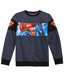 DC Comics Big Boys Superman Graphic Fleece Sweatshirt