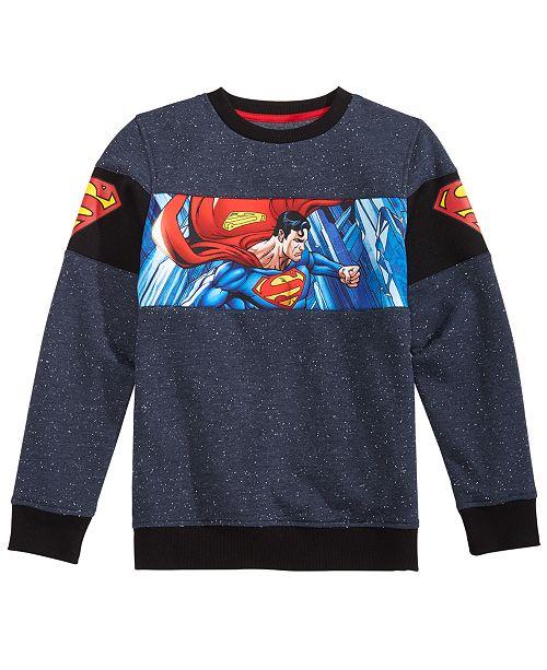 754d00369a7b DC Comics Big Boys Superman Graphic Fleece Sweatshirt   Reviews ...
