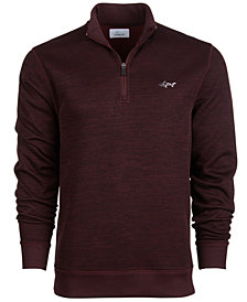 Attack Life by Greg Norman Men's Herringbone Quarter-Zip Pullover Sweater, Created for Macy's