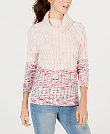 American Rag Juniors' Heathered Colorblocked Sweater, Created for Macy's