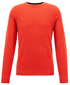 BOSS Men's Lightweight Merino Wool Piqué Sweater