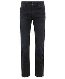 BOSS Men's Regular/Classic-Fit Overdyed Stretch Denim Jeans