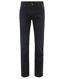 BOSS Men's Regular/Classic-Fit Overdyed Stretch Denim Jeans