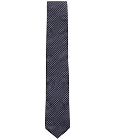 BOSS Men's Water-Repellent Silk Tie