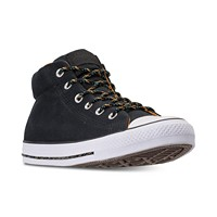 Converse Men's Chuck Taylor Street Mid Casual Sneakers from Finish Line (Black/Black/White)