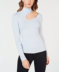 GUESS Dulce Cutout Mock-Neck Top