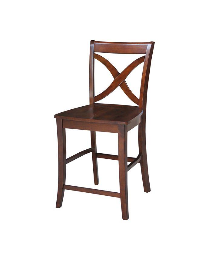 """International Concepts - Vinyard Counterheight Stool - 24"""" Seat Height"""