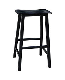 "Slat Seat Stool - 29"" Seat Height"