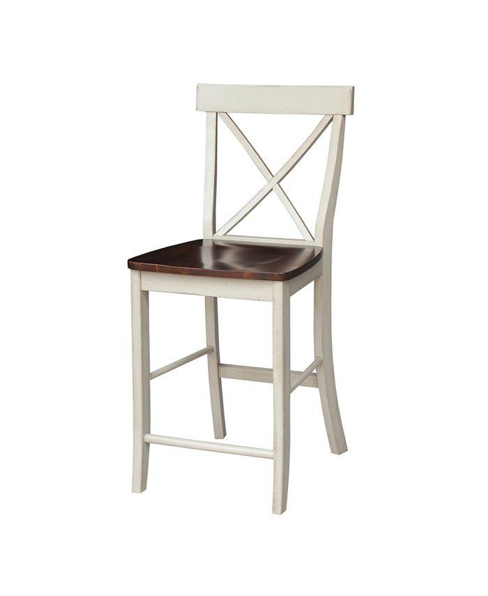 "International Concepts - X-Back Counterheight Stool - 24"" Seat Height"