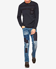 A|X Armani Exchange Men's Slim-Fit Patchwork Jeans