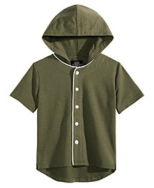 Jaywalker Big Boys Hooded Baseball Jersey