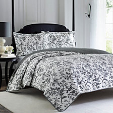 Laura Ashley King Amberley Quilt Set