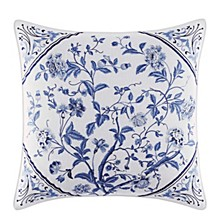 Charlotte Blue Square Pillow