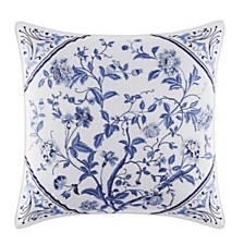 Laura Ashley Charlotte Blue Square Pillow