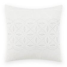 Annabella White Square Pillow