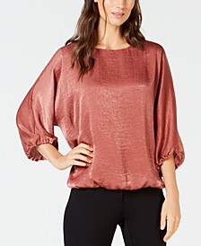 Satin Dolman-Sleeve Bubble Top, Created for Macy's