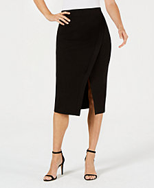 Anne Klein Split-Front Midi Skirt