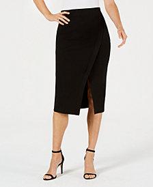 Anne Klein Split-Front Midi Skirt