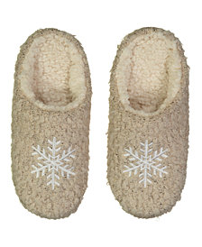 Lemon Boucle Snowflake Slipper