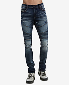True Religion Men's Rocco Moto Jeans