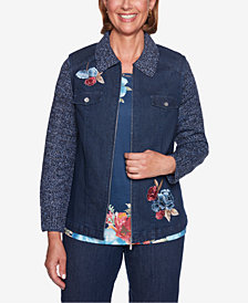 Alfred Dunner News Flash Embroidered Jacket
